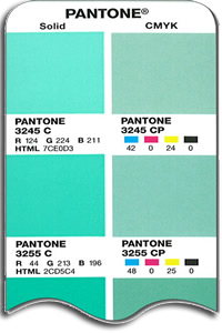 Pantone colour chip